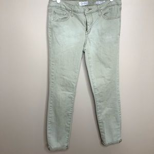 Jessica Simpson Rolled Skinny Jeans Light Olive